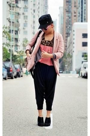 nude pink H&M blazer