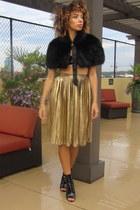 Nordstrom skirt - ami clubwear boots - Goodwill cape