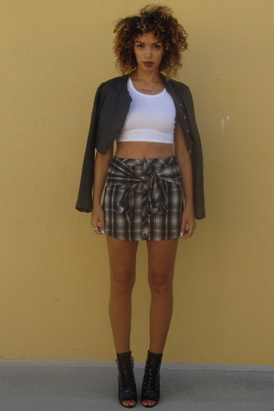 Cici Hot skirt - ami clubwear boots - Line Knitwear jacket - Forever 21 top