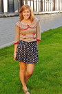 Navy-polka-dotted-forever-21-shorts-tan-tulip-pockets-modcloth-cardigan