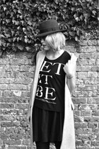 black whistles skirt - silver Zara vest - black Primark t-shirt