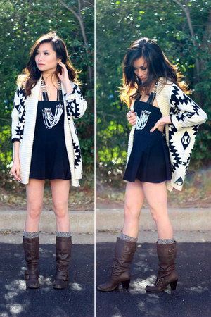 sammydress sweater - Target boots - AmericanApparel dress - CVSourcery necklace