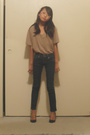 Brown-armani-exchange-shirt-blue-my-mom-pants-pink-random-boutique-accessori