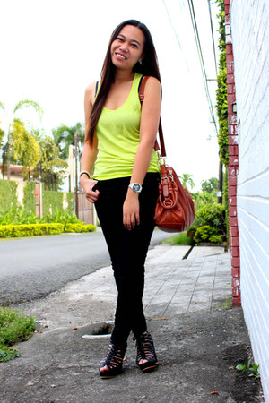 Forever 21 jeans - Charles & Keith bag - Forever 21 top - Gaisano Metro wedges