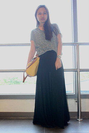 SM surplus skirt - bkk bag - thrifted top - Topshop flats