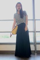 SM surplus skirt - bkk bag - thrifted top - Topshop flats