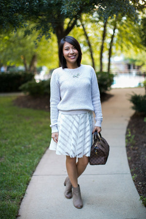 BP boots - modcloth dress - Loft sweater