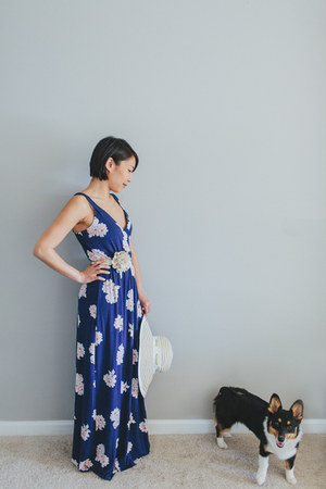 maxi dress Old Navy dress - flower belf JCrew belt