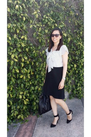 H&M blouse - Loft skirt - Forever 21 pumps