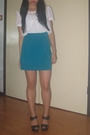 Unknown-brand-blouse-thrifted-skirt-nine-west-shoes