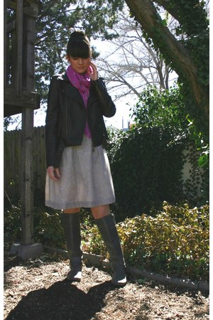 Old Navy boots - Ann Taylor Loft dress - Nostalgica jacket
