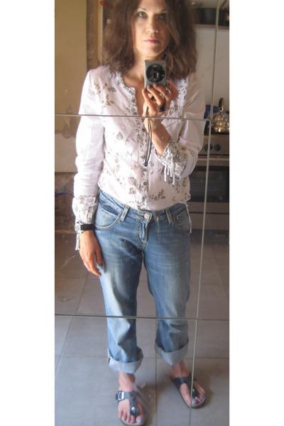 "Birkenstock Gizeh Sandals, Lee Jeans | ""A Happy Birk-day ..."