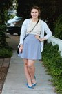 Vintage-top-american-apparel-skirt-lebunny-bleu-flats