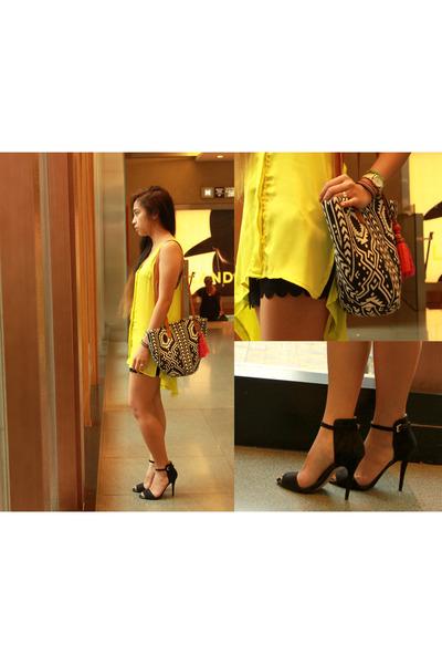 Zara sandals - H&M shorts - cotton on top