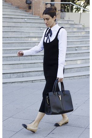 Zara dress - Yves Saint Laurent bag - Chanel flats