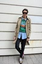 Misslittletouch sunglasses - Kenzo sweatshirt - nike sneakers