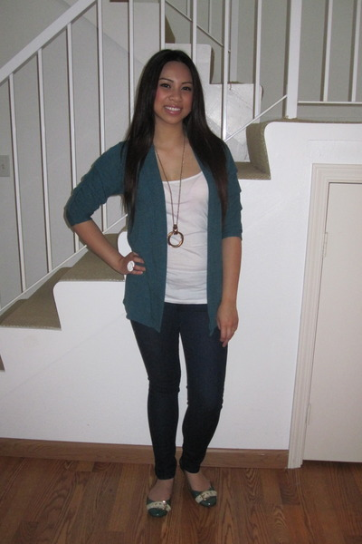 green Forever 21 cardigan - green Forever 21 shoes