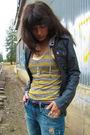 Gray-bb-dakota-jacket-silver-charlotte-russe-boots-yellow-top