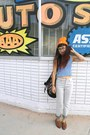 Tawny-esprit-shoes-heather-gray-volcom-jeans-orange-hat