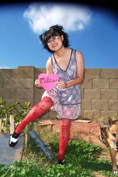 pink Forever 21 dress - red stockings - silver Forever 21 - Forever 21 shoes