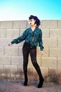 Green-thrifted-blouse-brown-forever-21-leggings-gold-forever-21-necklace-b