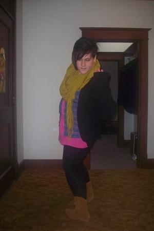 Old Navy dress - savers shirt - Target boots - H&M scarf - Norma Kamali sweater