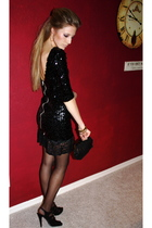 black Topshop dress - black Preview shoes