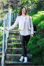 light pink blush blouse H&M blouse