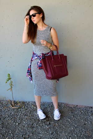 brick red Forever 21 purse