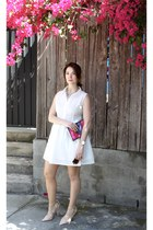 2-for-1: How to Style the White Shirt Dress Two Ways, part 2