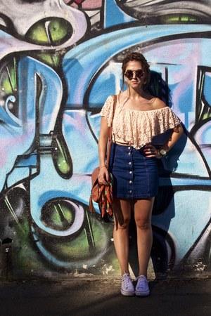 navy flea market skirt