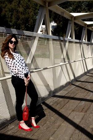 white Forever 21 blouse