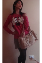 IT loves mickey sweater - Sexy Bully skirt - Chloe purse - swarovski necklace