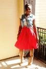 Boots-purse-skirt-vest