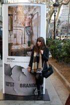 black Dr Martens boots - heather gray H&M dress - dark gray Zara coat - black ca