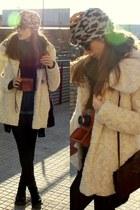 Zara coat - Dr Martens boots - leopard print El Delgado Buil hat