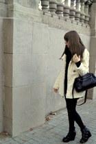dark gray Friis&Co flats - black Ray Ban sunglasses - black H&M scarf - beige H&