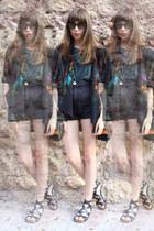 black kimono H&M blazer - black black Bimba & Lola bag