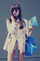 handmade vintage blazer - unique JUANMA BY EL CUCO shirt - leather Zara bag
