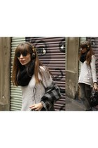 brown pull&bear accessories - silver Zara jumper - charcoal gray Zara coat - arm