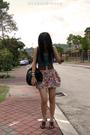 Green-miss-ocd-top-red-uk-skirt-brown-random-belt-brown-online-shoes-bla