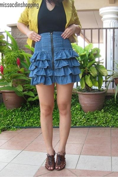 Factory Outlet Store top - sungai wang jacket - Miss OCD skirt - Honey Pumpkin s