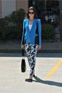 Floral-print-white-house-black-market-jeans-blue-rag-bone-blazer