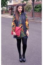 vintage shirt - asos bag - vintage vest - Topshop wedges