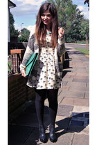 Atmosphere dress - asos bag - River Island cardigan - Topshop wedges