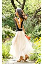 eggshell drapey chiffon misspouty skirt
