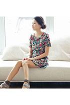 pop art print misspoutycom dress - chiffon Guess heels