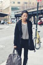 black wwwmisspoutycom hooded cargo jacket - Stripe sweater - charcoal gray ysl m