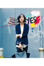 Black-trapeze-celine-bag-blue-misspouty-blazer-eggshell-misspouty-top