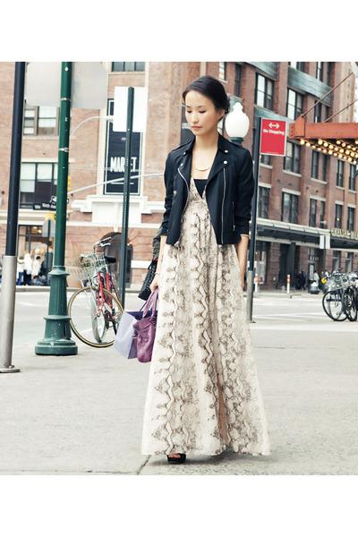 Images of Maxi Dress With Blazer - Reikian